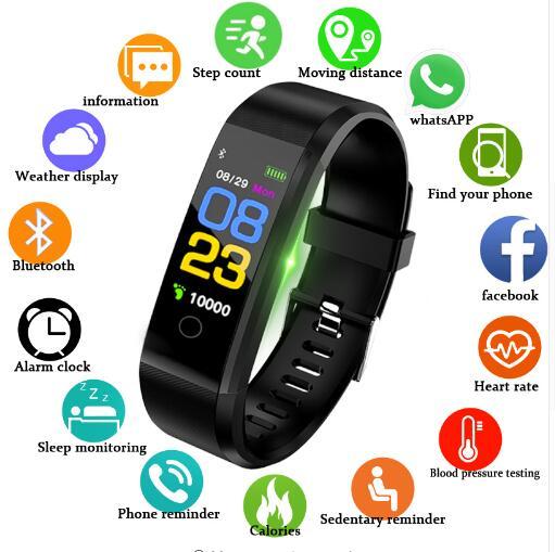 New Smart Watch Men Women Heart Rate Monitor Blood Pressure Fitness Tracker Smartwatch Sport Watch f