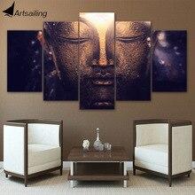 Toile de portrait de tête de budda   Toile imprimée HD, décoration de pièce en toile, affiche imprimée, livraison gratuite/