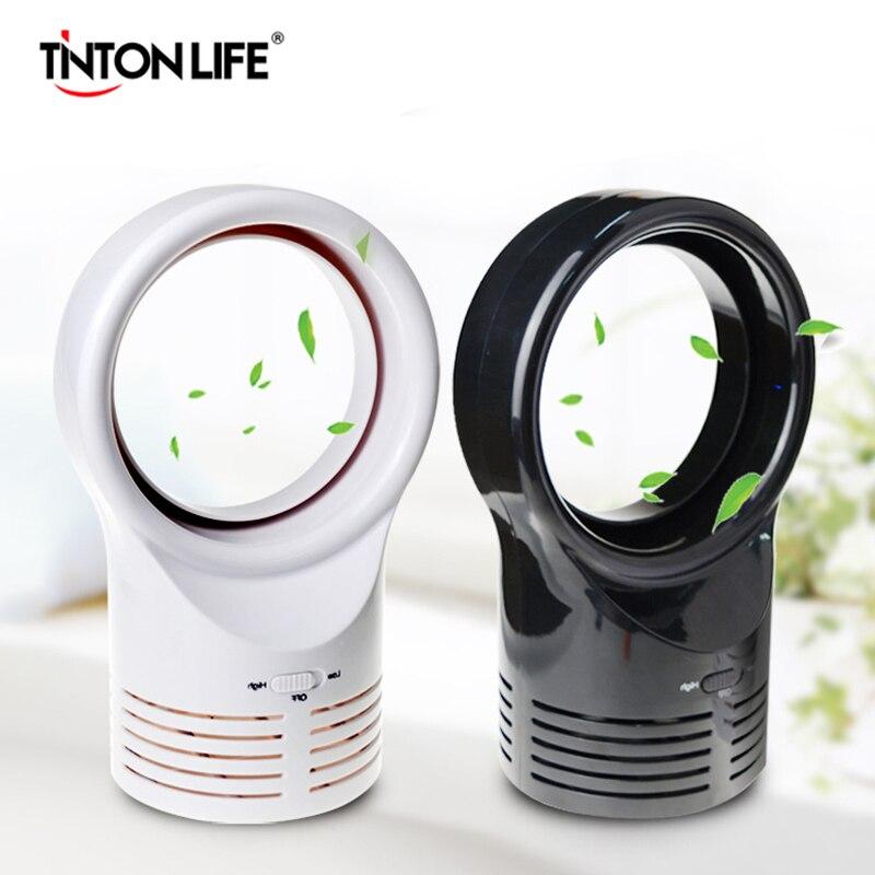 Ventilador sin aspas de enchufe europeo para oficina en casa con ventilador de escritorio sin aspas de doble cara Conversión de viento de alta precisión