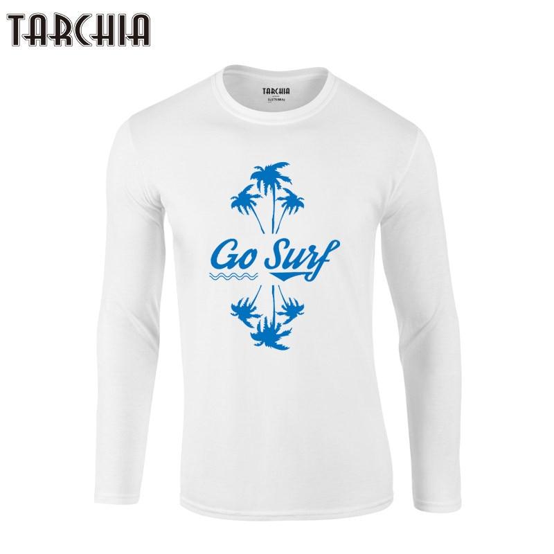 TARCHIA 2019 Camiseta de manga corta para hombre, Camiseta de calidad para ir a surf, camisetas a la moda para hombre, camiseta de manga larga estampada, camisetas nuevas