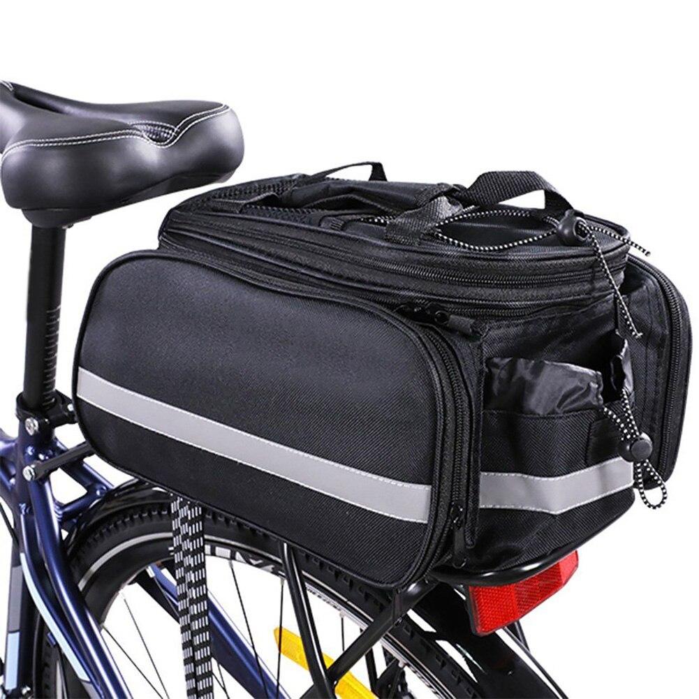 Bolsa de bicicleta portabebés extraíble con tiras reflectantes accesorios de lona para SILLÍN cremallera de viaje a prueba de agua
