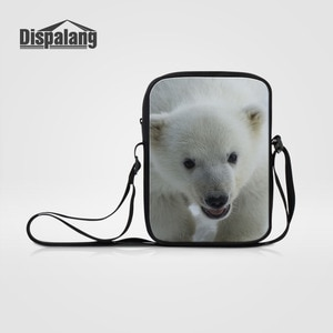 Dispalang Women's Messenger Bags Cute Animals Polar Bear Print Shoulder Bag Kids Crossbody Bag for Children Girls Travel Handbag