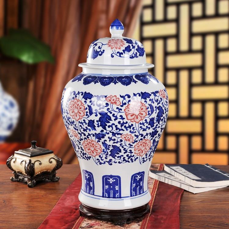 Jarras de cerámica Jingdezhen de jengibre, jarras antiguas de porcelana, jarrón azul y blanco chino, jarras chinas antiguas