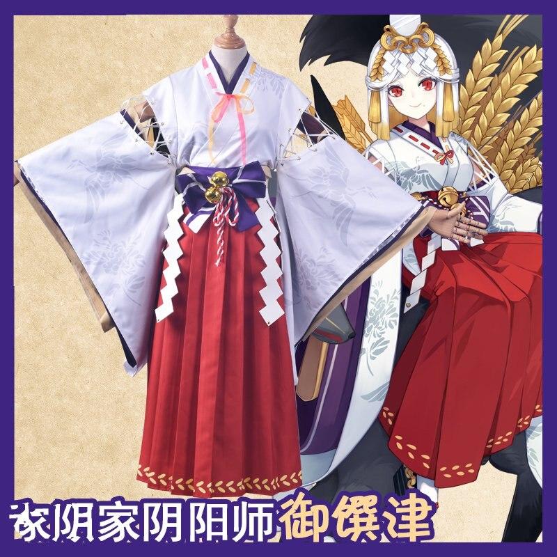 Игра Onmyoji Новый SSR Yu Yujin косплей костюм игра косплей Униформа костюмы ведьмы Одежда Рождественские костюмы кимоно + парик + головной убор