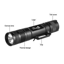 Ultrafire lanterna tática xm-l t6 carregamento usb zoom tocha lanterna led brilho lanterna 18650 luz flash de mão l