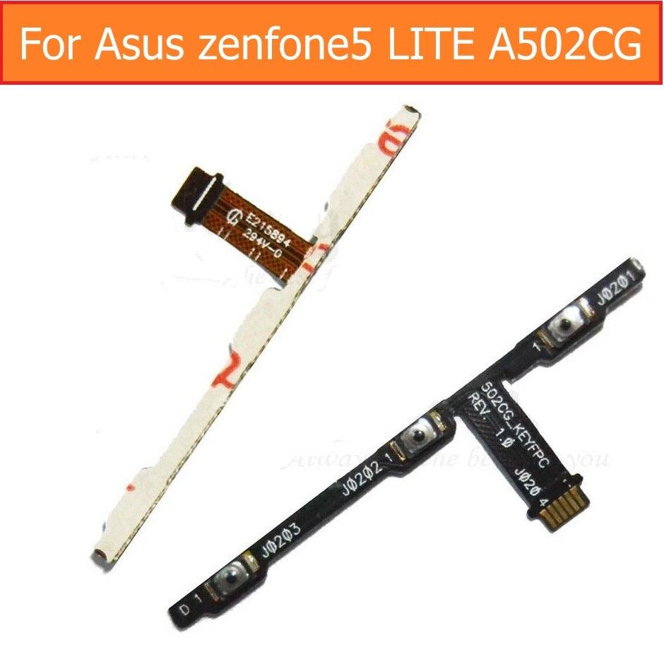 La mejor calidad, interruptor Genunie, encendido apagado, cable de alimentación flex para Asus zenfone 5 LITE A502CG, control de volumen, cable flexible, botón de bloqueo de pantalla