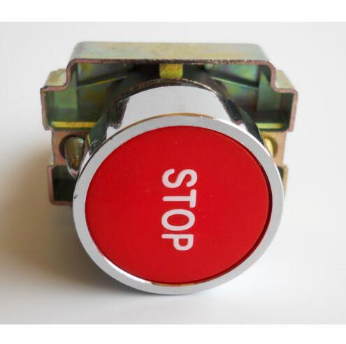 (1PC) 1NC XB2-BA4342 Symbol Momentary RED (Stop) Flush Push-button