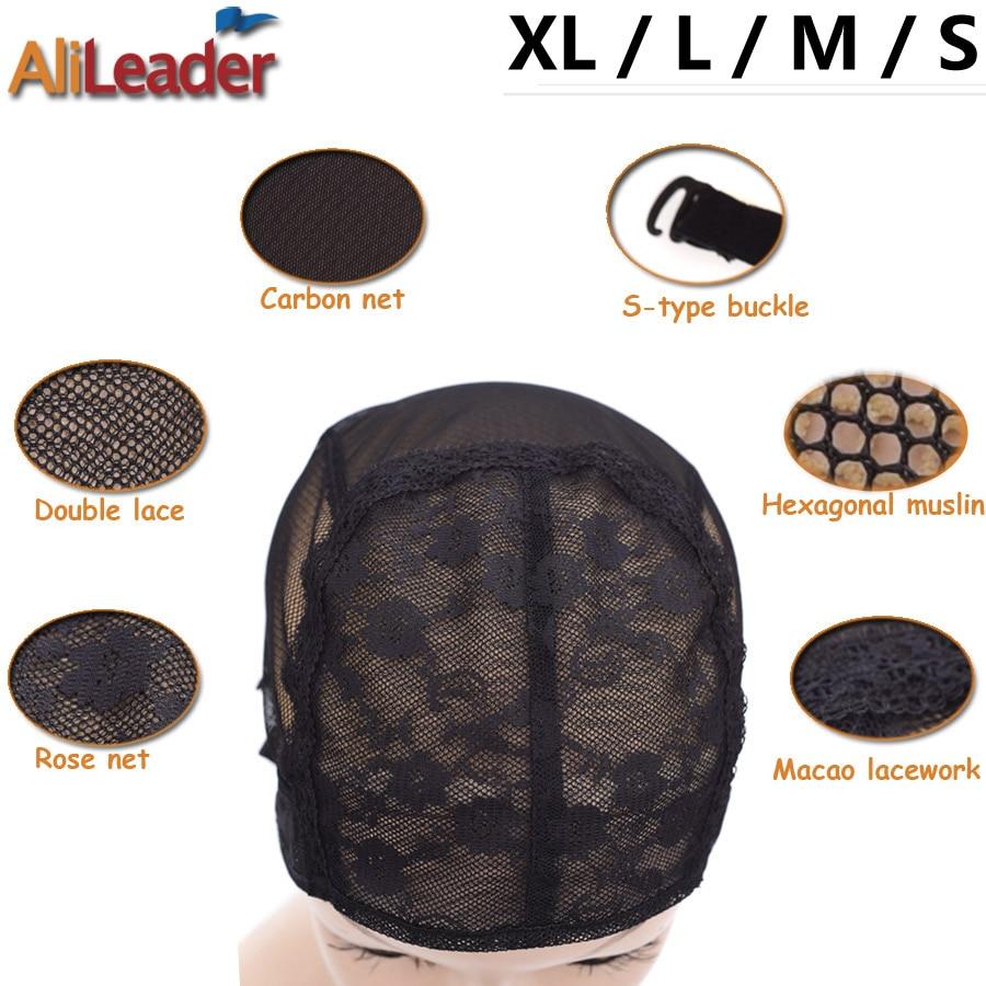 50 шт./лот, материал шнурка, профессиональные парики для изготовления париков XlL/L/M/S, без клея, парик, эластичные регулируемые волосы