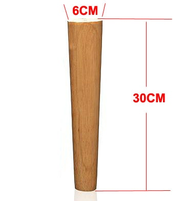 4Pieces/Lot H:30CM  Diameter:4-6.5cm Solid Wood Sofa Cupboard Legs Feet Furniture Parts