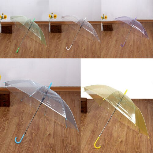 Moda grande clara cúpula transparente guarda-chuva guarda-sol brolly senhoras festa de casamento ornamento ensolarado ang chuvosos guarda-chuvas