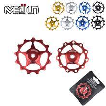 2 pièces 11 dents vtt vtt vélo dérailleur arrière pièces CNC en alliage daluminium 11 T 13T Guide roue tendeur poulie Jockey roue