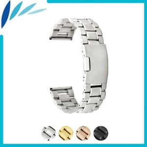 Stainless Steel Watch Band 16mm 20mm 22mm for Motorola Moto 360 2 42mm 46mm Men 2015 Watchband Strap Loop Belt Bracelet Black
