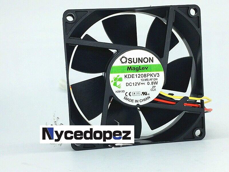 ¡1 pc para SUNON KDE1208PKV3 MS! ¿AF? GN DC12V 0,8 W ventilador de refrigeración 80x80x20mm 3Pin
