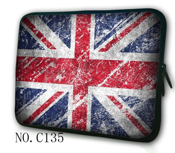 La bandera de Reino Unido 15,4 bolsa de ordenador portátil de 15,6 impermeable 10,1 tablet caso 7,9 de 11,6 de 17,3 portátil de 14,4 manga 13,3 mini computadora cubierta