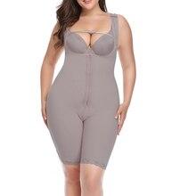 여성 슬리밍 바디 수트 엉덩이 기중 장치 오픈 가랑이 모델링 스트랩 Bodyshaper 곡선 Shaperwear 플러스 크기 6XL 그레이 베이지 속옷