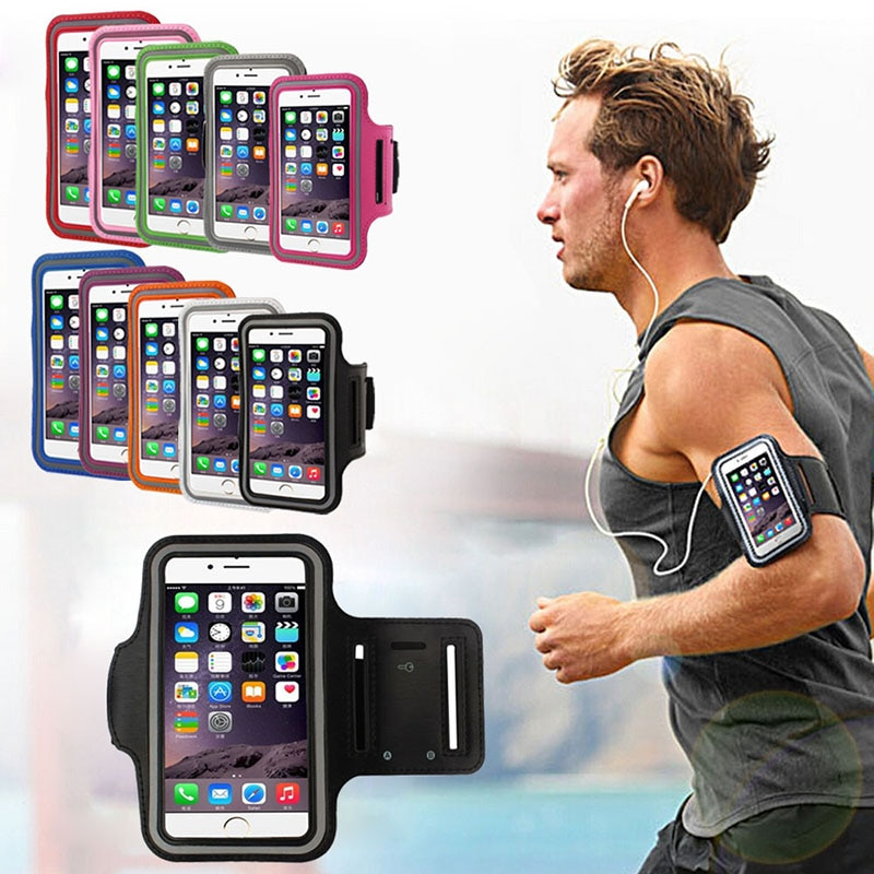 Universal 6 inch Sport Waterproof Armband For iPhone 6 7 8 Plus X XS Max XR Mobile Phone Case Outdoo