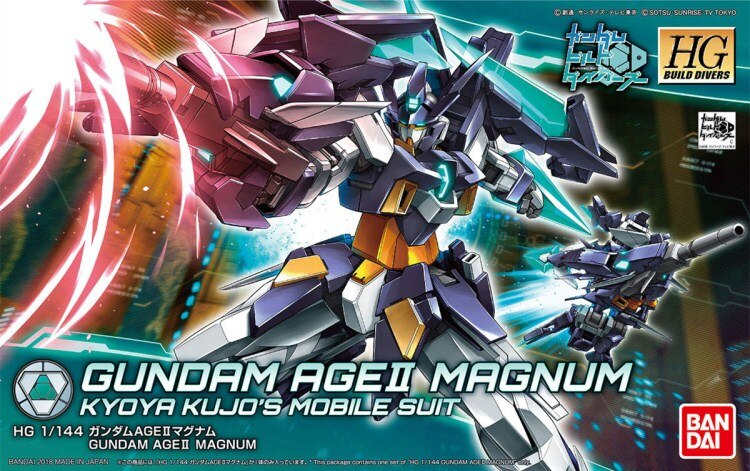 Bandai 1/144 HGBD 012 AGE2 Magnum alta movilidad tipo hobby modelo Gundam construir buzos juguetes niños educación juguete Robot montado
