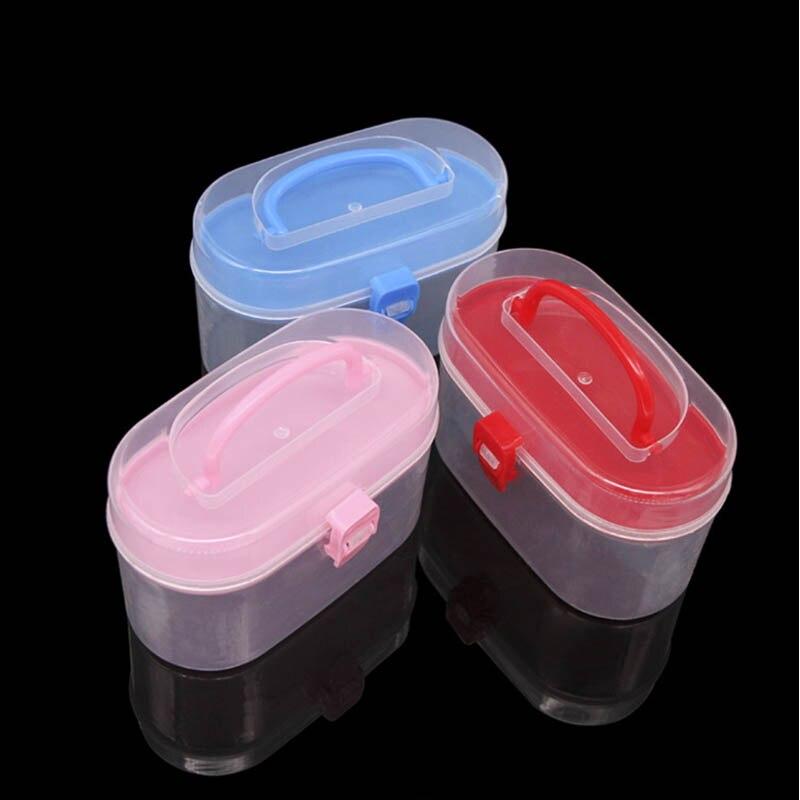 Caja de almacenamiento de cosméticos 1 PC organizador de escritorio Kit de medicina de emergencia de primeros auxilios multifunción Mini contenedor de Casa doble capa