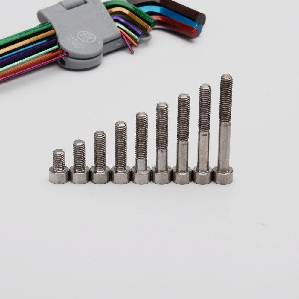 Титановые винты TonKing GR5, метрические болты с шестигранной головкой из титана M6, 1 шт.