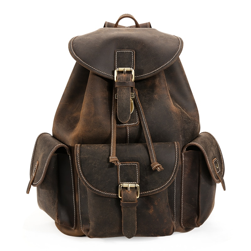 backpack men s korean wave casual backpack men s bags computer bags large and medium sized student bags fashion travel bags man travel bags genuine leather 2017 new fashion brand men brown cow leather vintage casual student backpack bags male