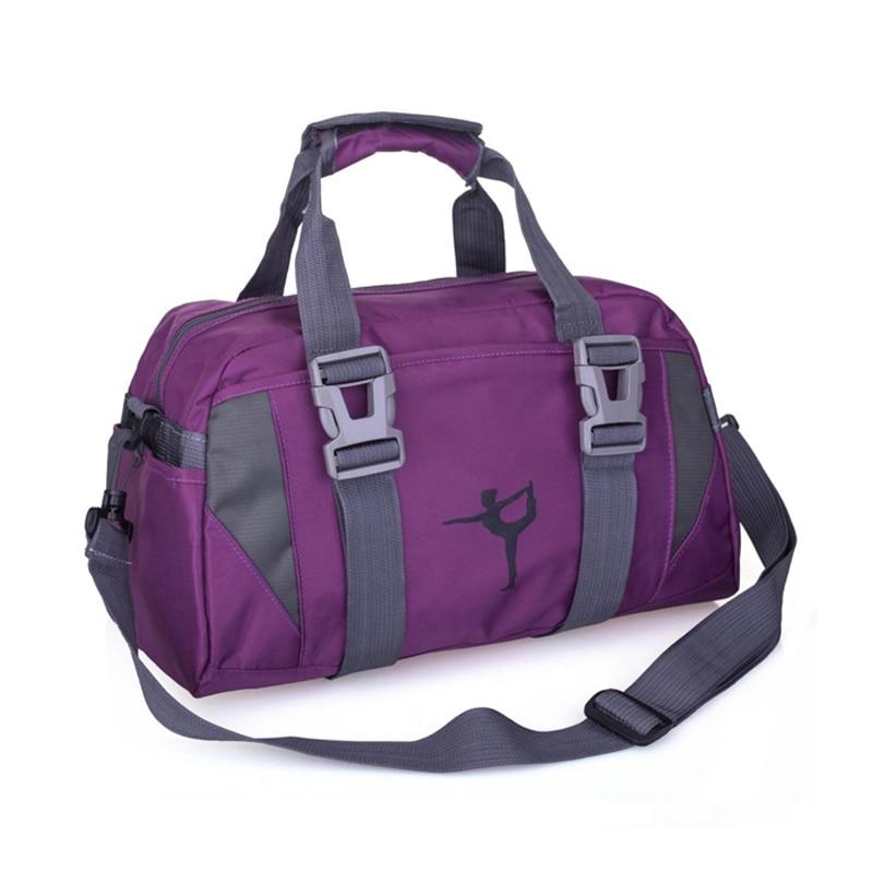 sport double layer water proof arm bag dark blue High Capacity Women Sport Bag Nylon Water Proof Travel Shoulder Sack Fitness Yoga Bag Clothes Duffel Gym Bag J762921