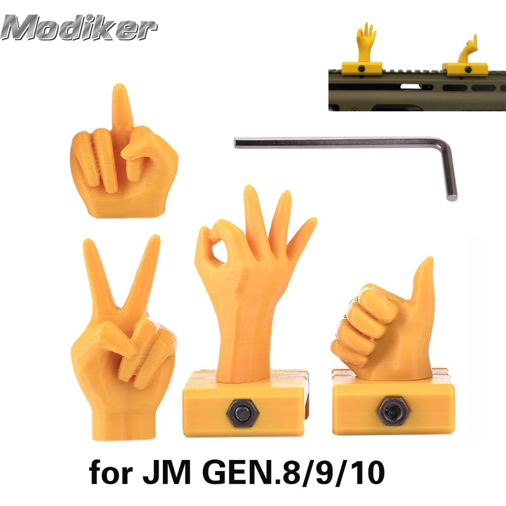 Water Gel Beads Parts DK Gesture Machine Sight for 21mm Wide Rail Mount Base for JM GEN.8/9/10 for JM8/9/10 Water Gel Blaster