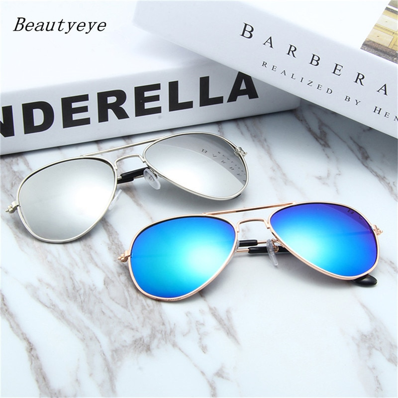 Beautyeye Classic Aviation Sunglasses Men Sunglasses Women Driving Mirror Male Sun glasses Points Pi