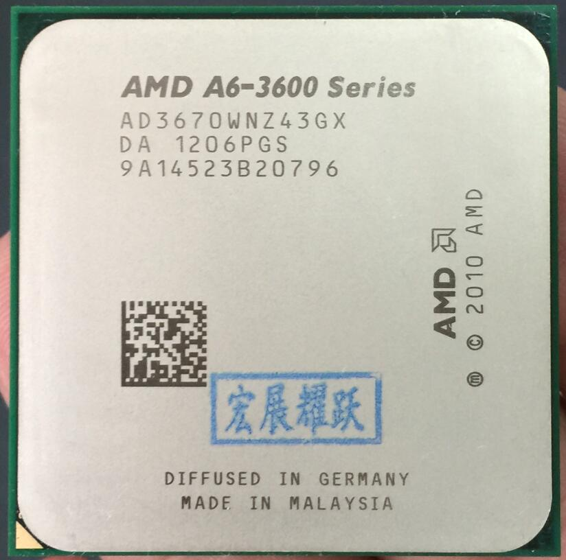 AMD A4-Series A6-3670 A6 3670 CPU de cuatro núcleos 100% funcionando correctamente procesador de escritorio 100% funcionando correctamente procesador de escritorio