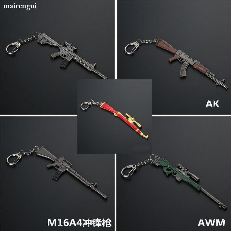 Игра PUBG M416 AWM 98k оружие Стайлинг брелок для мужчин украшение автомобиля брелок для BMW mini ford nissan alfa romeo брелок подарки