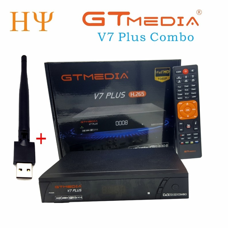 10pcs GTMEDIA V7 PLUS DVB-S2 H.265 DVB-T2 Satellite Receiver Decoder Terrestrial HD tv box Wifi Biss vu Converter Receptor