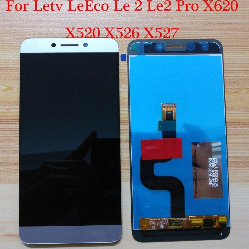 Le2 X527 X520 X522 para LeTV LeEco Le 2 pantalla táctil LCD para LeEco S3 X626 pantalla LCD Le 2 Pro X620 X526 gris
