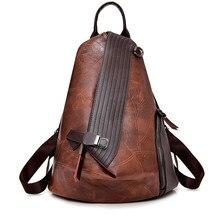 Vintage sac à dos antivol femmes 2018 mode nouvelle grande capacité femmes sac à bandoulière loisirs en cuir souple école voyage sac à dos