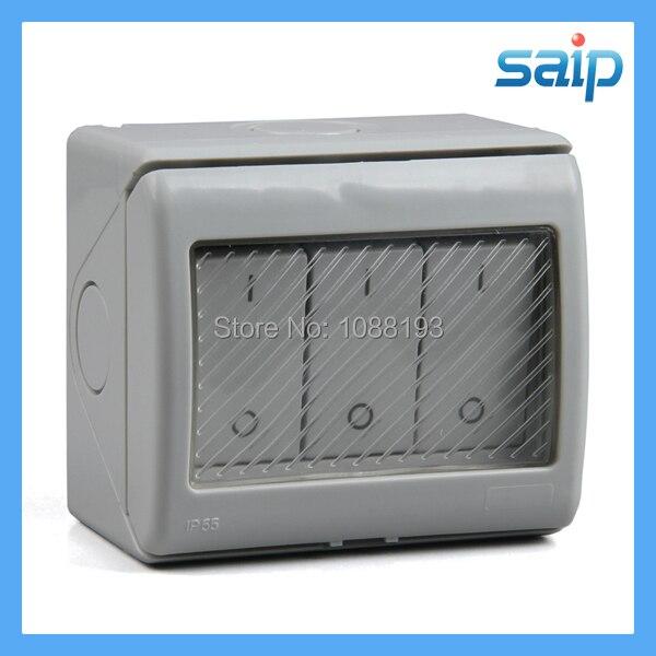 IP55 250 V 13A tres banda impermeable interruptor de botón de empuje del fabricante de China