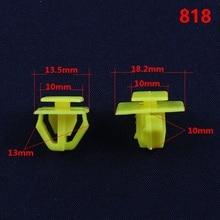 KE LI MI 818 Auto Car Yellow Plastic Fasteners Door Sill Strip Trim Retaining Clips For Hyundai