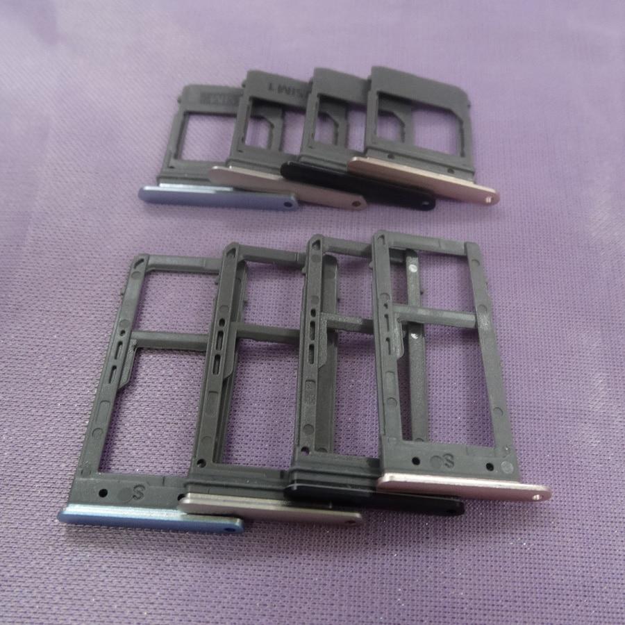 10 set/lote único sim & dupla sim sim bandeja de cartão sim slot sim sd suporte de cartão adaptador de peças de reposição para samsung galaxy a5 a520 a7 a720