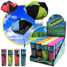 Mini main lancer Parachute Sports de plein air mouche jouet éducatif enfants jouant soldat Parachute amusant jouet volant pour enfants cadeau