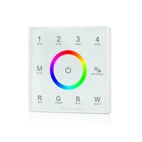 12 36v dmx 512 decode control wall switch touch panel rgbw controller wall mounted output t13 signal led strip controller