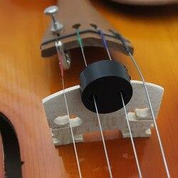 Mute silenciador circular redonda ponte de borracha preta mudo para cordas violino silencioso jogando violino peças acessórios