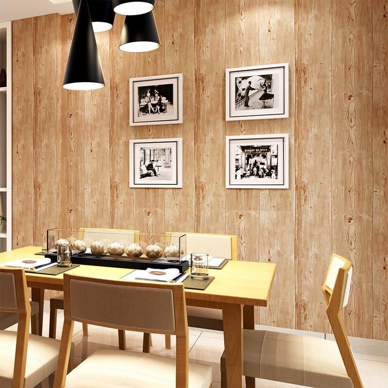 beibehang Retro Gray Wallpaper Coffee House Clothing Store Chinese Restaurant KTV Net Coffee Wooden Wallpaper