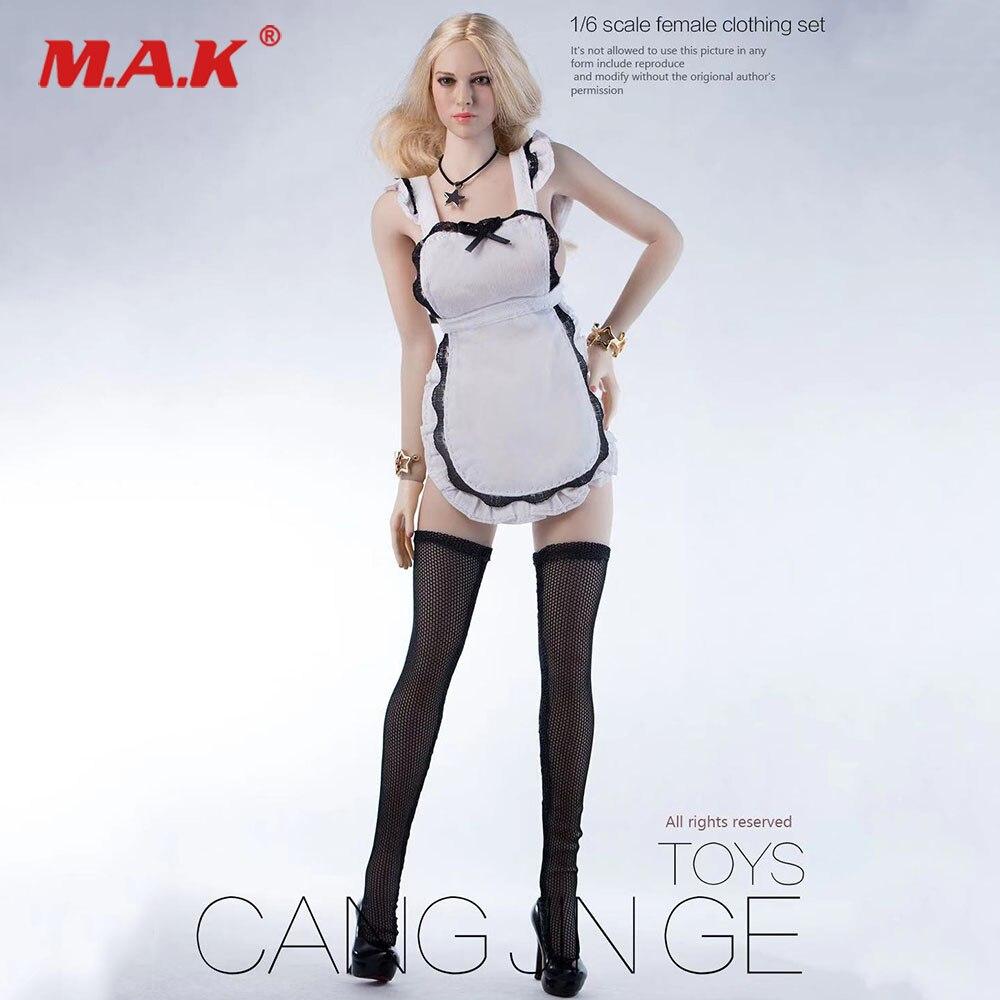 DIY 1/6 escala Sexy figura femenina criada delantal de niña ropa de mujer modelo para Kt004 12 pulgadas figuras de acción, muñecos Accesorios