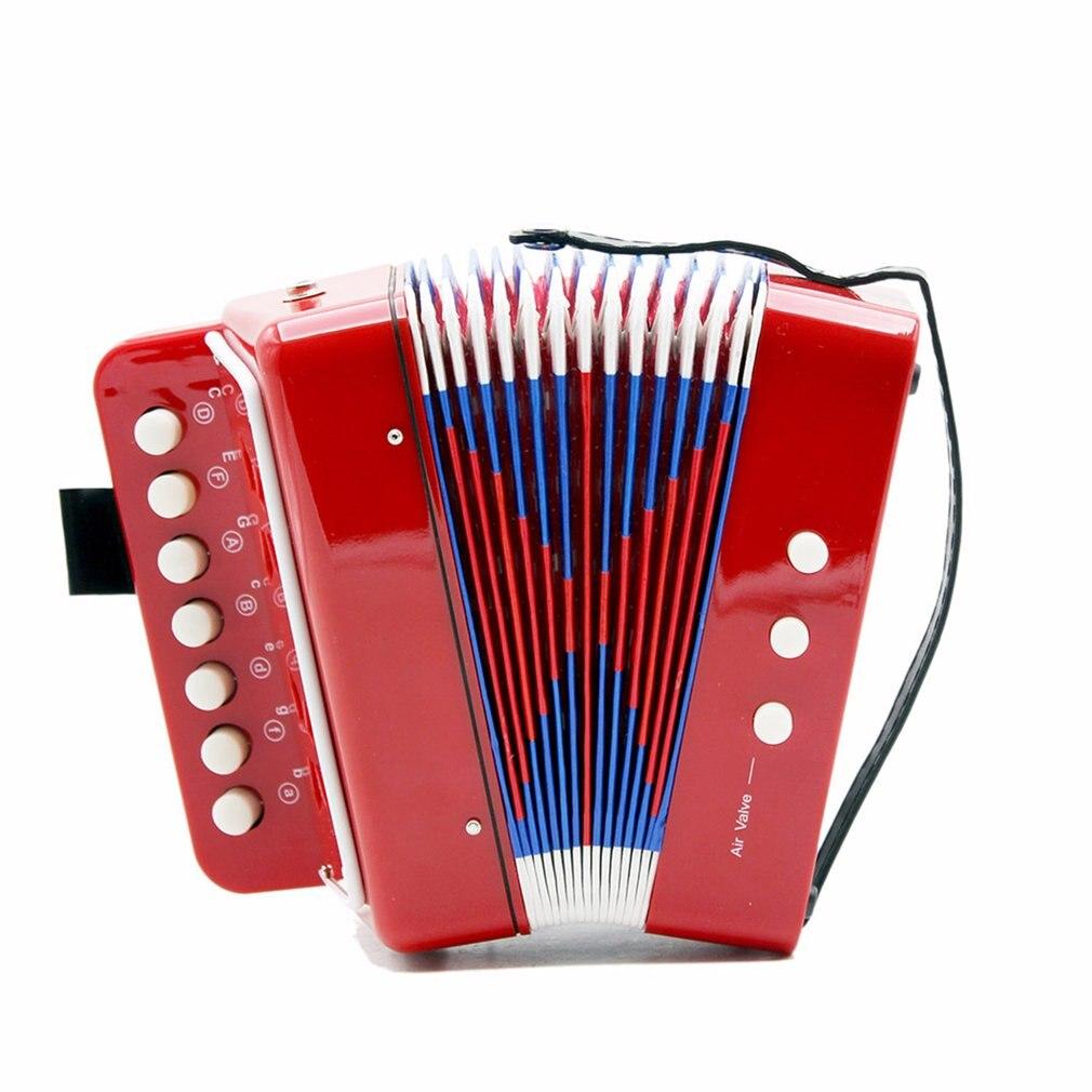 1 unidad de Mini acordeón para niños 7-Key 3 Bass, juguete educativo para niños, práctica de principiante, instrumento musical, banda de juguete, gran oferta, Dropshipping
