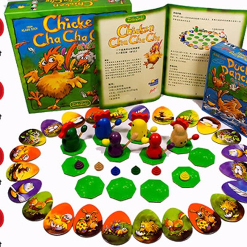 ¡Juego de rompecabezas de 2-6 jugadores pollo Cha cha! Juego de mesa divertidos juegos de fiesta