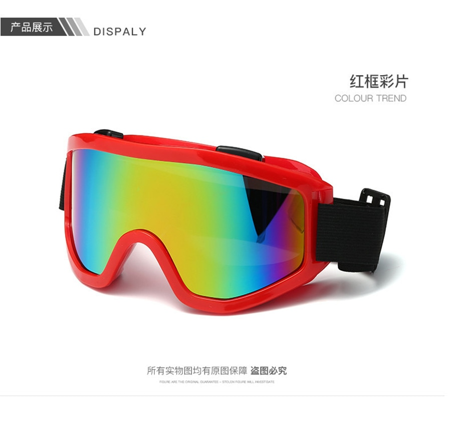 color lens Motocross Glasses Moto Men Women Motorcycle Goggles Helmet Glasses Off-Road Dirt Bike ATV MX BMX DH MTB Eyewear