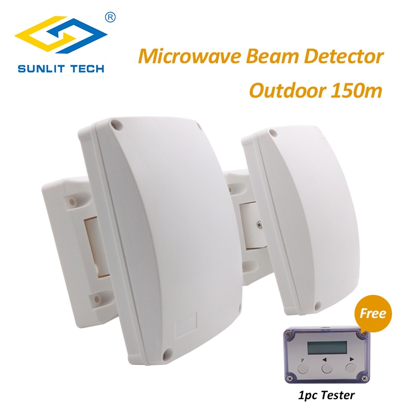 Dual Microwave Infrared Beam Waterproof Motion Sensor Intrusion Detector Automatic Outdoor Wall Sensor System for Home Security enlarge
