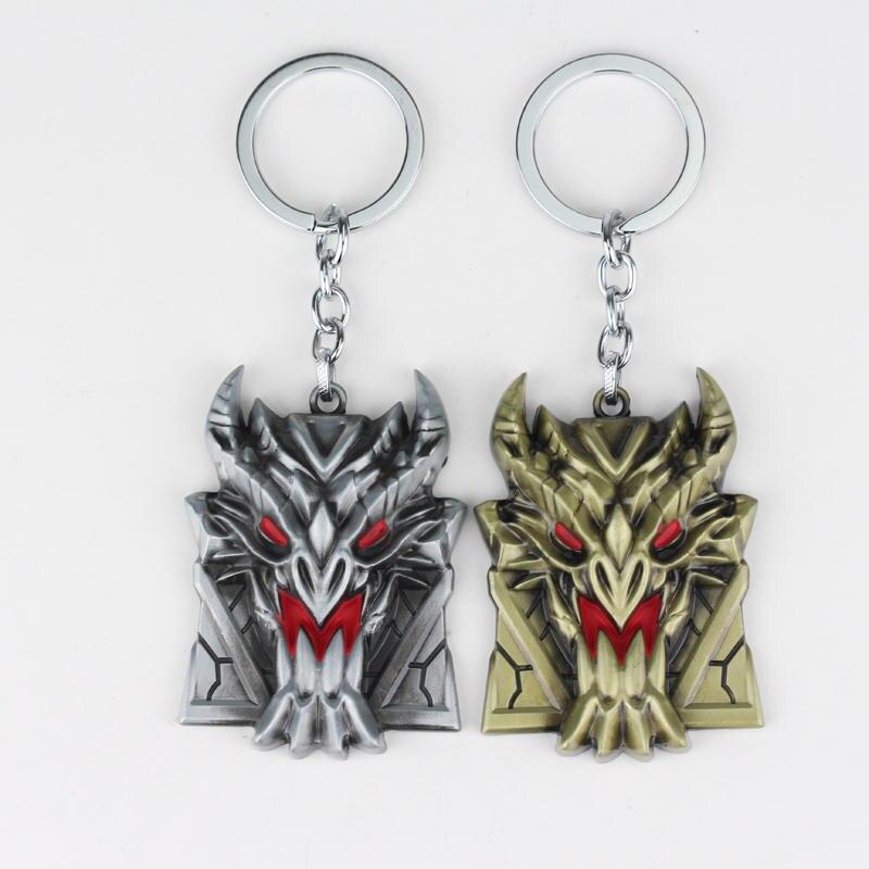 dongsheng Game Jewelry Hero Alliance League of Legendes Braum Shield LO L Keychain Metal Key Rings Key Chain Jewelry for Fan-05