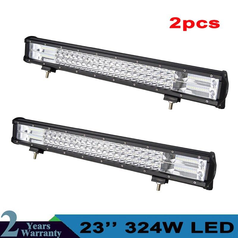 ¡Producto en oferta! Barra de luz LED de Triple fila 7D de 23 324W, lámpara de conducción LED recta para 4x4 4WD, camión, remolque, SUV, ATV, UTV