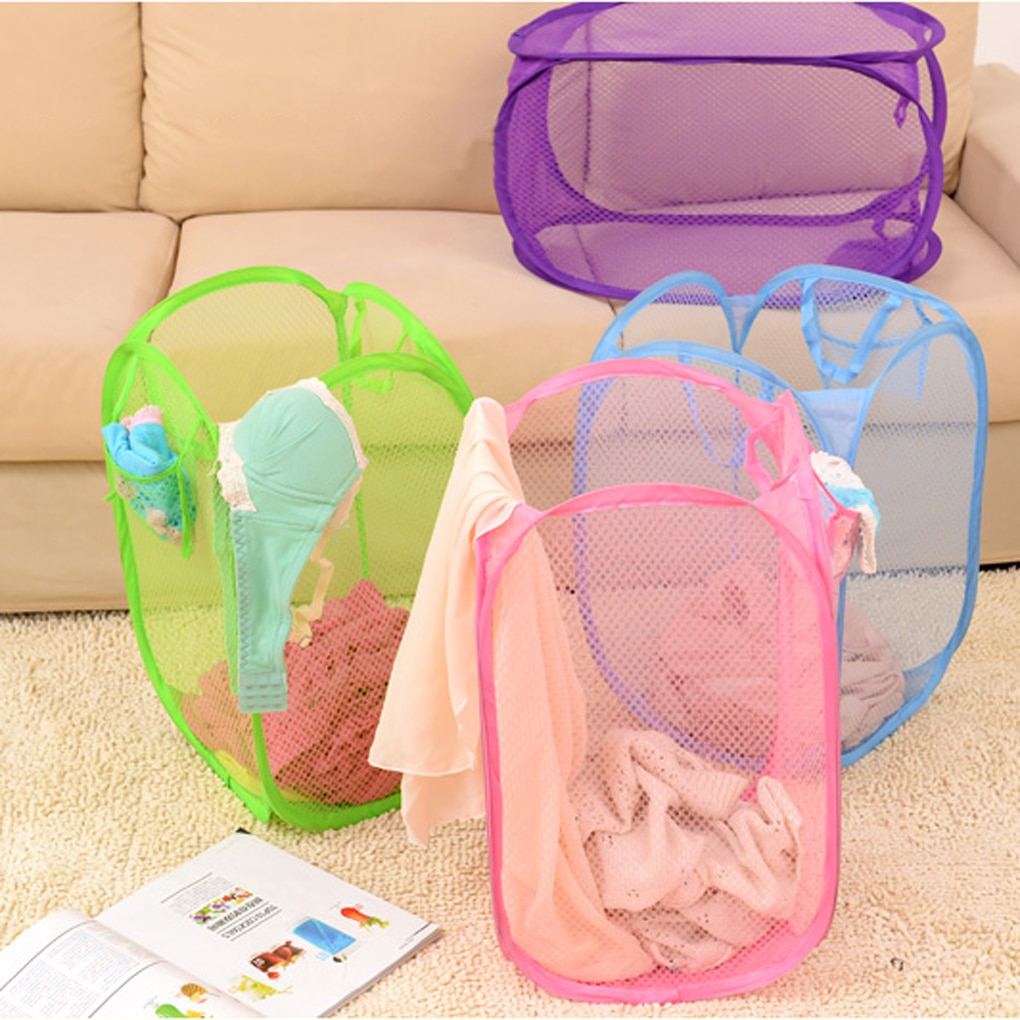 Saco de lavanderia útil barato cesta dobrável cesta de roupas saco de banho para saco de lavanderia
