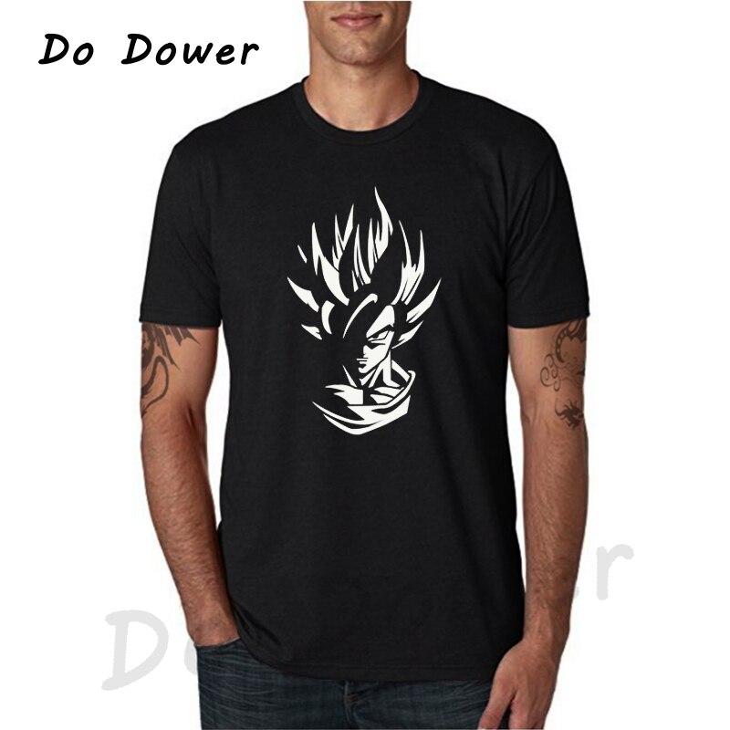 2018 camiseta de dibujos animados Dragon Ball Z Super Sayan con estampado para hombre, Camiseta de algodón 100% con cuello redondo, camiseta transpirable Original de marca