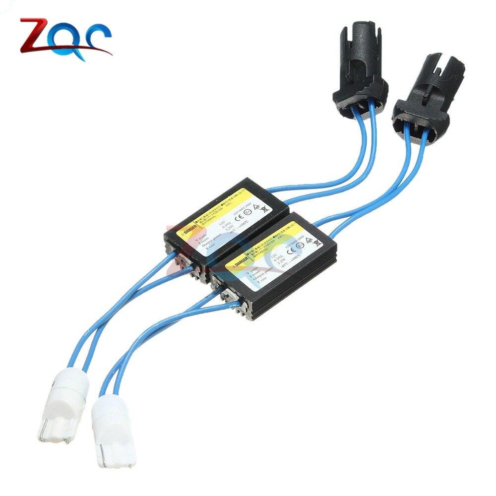 2 unids/lote T10 T15 194 W5W 168 921 bombilla LED Canbus Error gratuito advertencia decodificador de cancelador Resistor condensador adaptador de cable 12V 0.29A