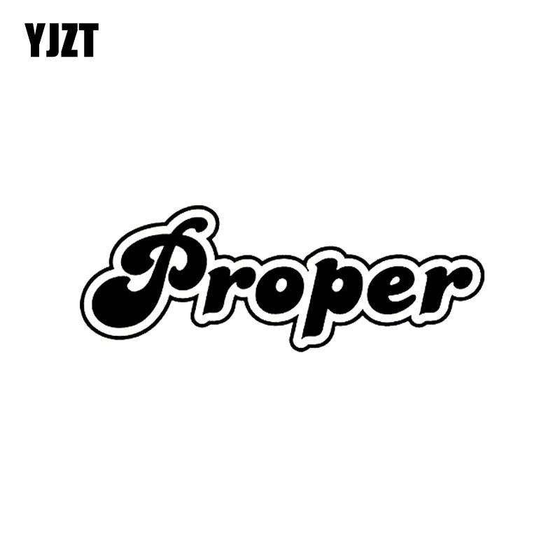 YJZT 15CM*5.4CM Fashion PROPER Vinyl Car-styling Car Sticker Decal Black/Silver Accessories C11-0541